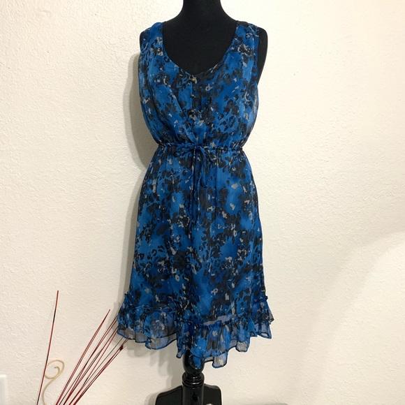Converse Dresses & Skirts - Converse Blue Watercolor Pattern Puffled Dress M